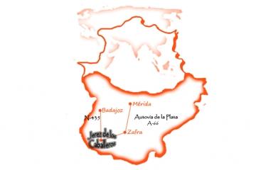 Mapa Jerez en Extremadura