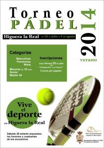TORNEO DE PADEL VERANO 2014