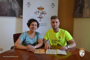 Inma Pitel, Dinamizadora del Programa Deportivo de la Mancomunidad Sierra Suroeste y Raúl Gordillo, Concejal de Deportes de Jerez de los Caballeros.